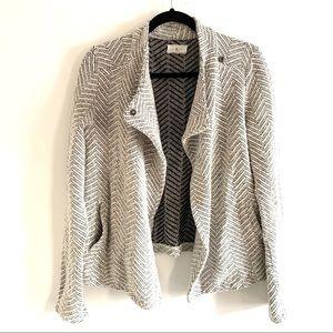 LOU&GREY Open Waterfall Cardigan Sweater